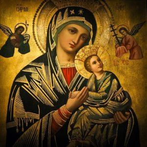 święty obraz Maryji z dzieciątkiem
